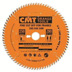 Профессиональный пильный диск для резки багета CMT Xtreme 250x30 мм 80 зубов