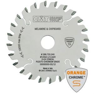 Подрезной пильный диск Chrome с коническим зубом CMT 120x22 мм 24 зуба