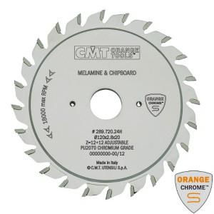 Регулируемый подрезной пильный диск CMT Chrome 125x20 мм 12+12 зубов