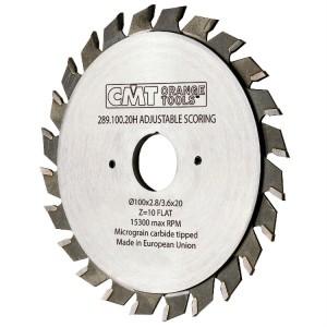Регулируемый подрезной пильный диск CMT 120x22 мм 12+12 зубов