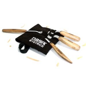 Набор профессиональных резцов ложкорезов Narex Profi в замшевой сумке
