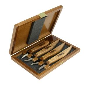 Набор из 4-х ножей Narex Profi в деревянном кейсе