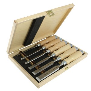 Набор из 6 стамесок Narex Wood LineProfi в деревянной коробке