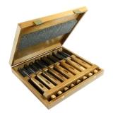 Набор Narex Profi из 8 резцов в деревянном кейсе
