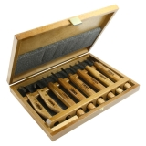 Набор Narex Profi из 6 резцов и 2-х ножей в деревянном кейсе