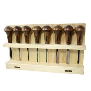 Набор Narex Profi из 8 резцов штихелей в деревянной подставке