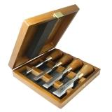 Набор Narex  4-х зачистных стамесок в деревянном кейсе